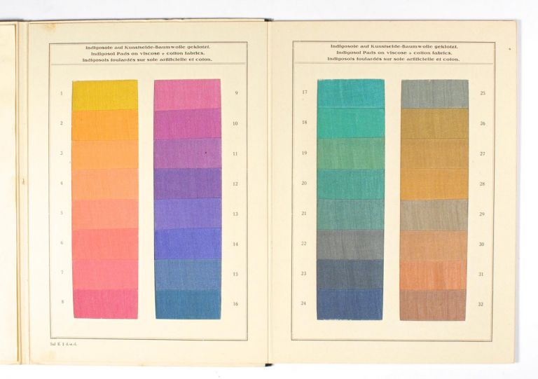Indigosol Pads on Mixed Fabrics of Viscose Silk and Cotton... Sol. K.3 [cover title]. Trade Catalogue.