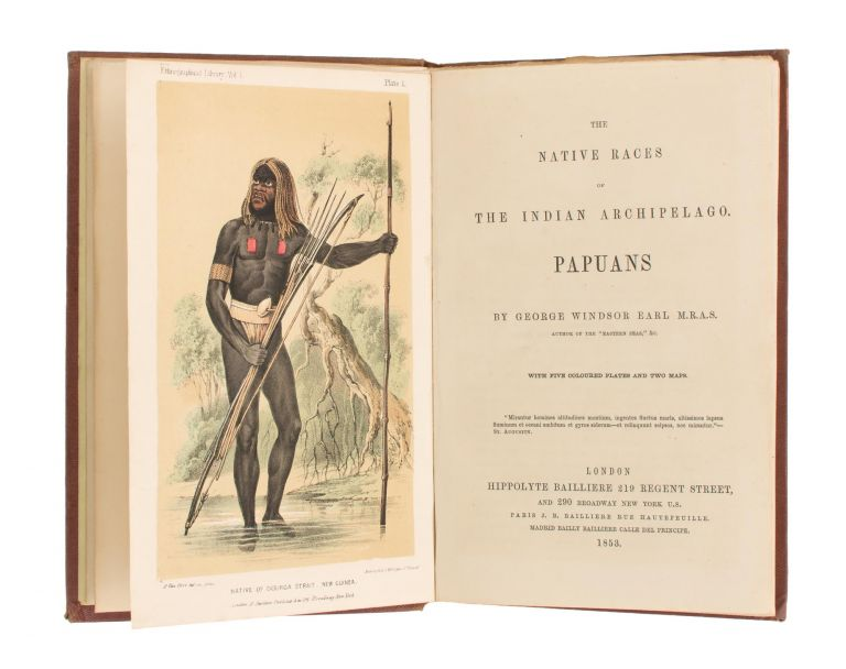 The Native Races of the Indian Archipelago. Papuans. George Windsor EARL.