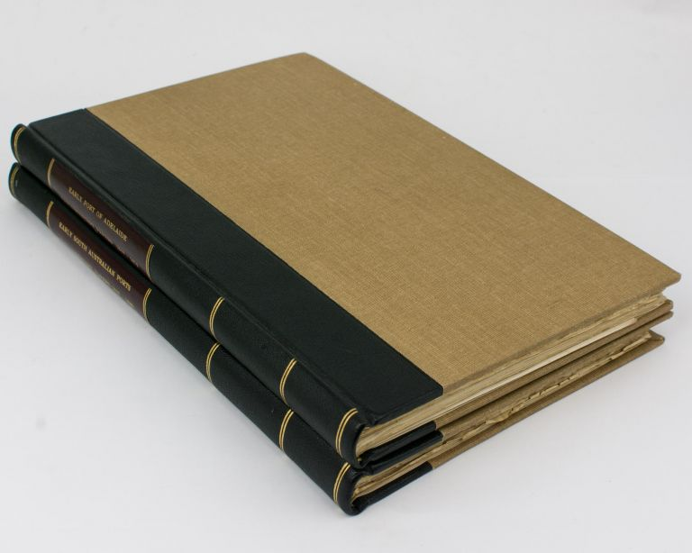 Two volumes of nineteenth century South Australian Parliamentary Papers relating to ports and harbors, together with a small quantity of related manuscript material, collected by Geoffrey Ingleton. South Australian Ports and Harbors.