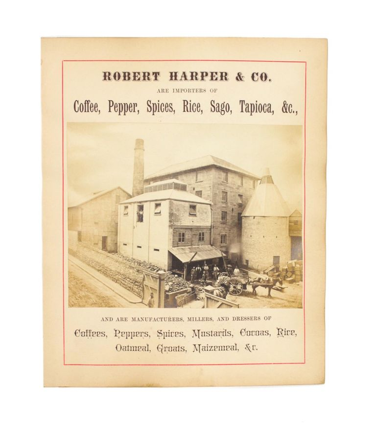 Three advertisements for Sydney businesses from the 1870s, illustrated with original full-plate albumen paper photographs. Sydney.