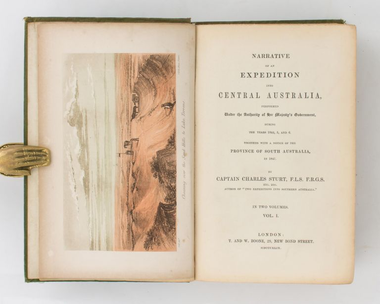 Narrative of an Expedition into Central Australia .. during the years 1844, 5 and 6. Charles STURT.