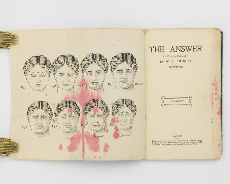 The Answer. An Essay in Philosophy .. Re-written. William James CHIDLEY.