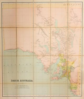 Philips' Series of Travelling Maps. South Australia [cover title on the cloth case of a...