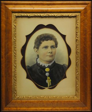 A fine nineteenth century example of a hand-painted head-and-shoulders opalotype portrait of an...