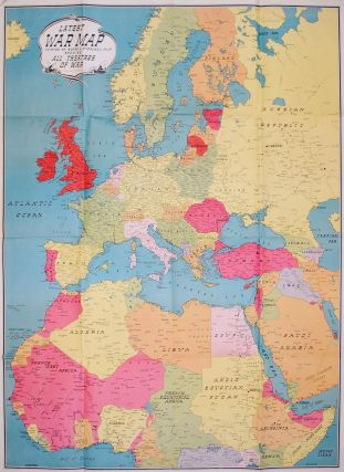 Latest War Map, printed by Sands & McDougall Pty. Ltd., showing all Theatres of War. Map