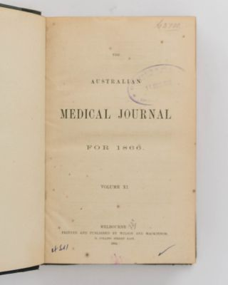 The Australian Medical Journal for 1866. Volume XI