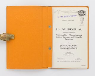 Dallmeyer Lenses. Lenses, Cameras, Projectors and Apparatus for Cinematography [cover title]