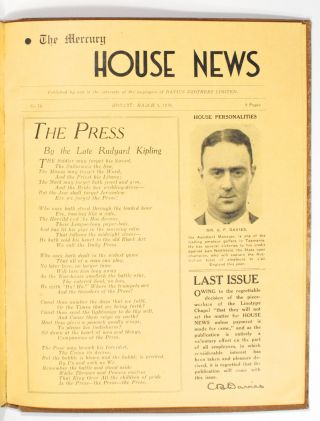 The Mercury House News. Number 1, December 1936 to Number 14, March 1938 [all published