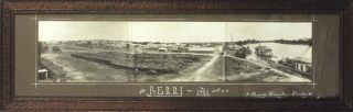 'Berri, 1921'. A vintage sepia-toned panorama (100 x 460 mm) comprising three original gelatin...