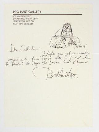 A short autograph letter signed by the artist, illustrated with a small signed ink drawing of a...
