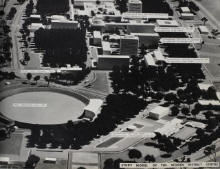An album of large-format photographs of Canberra at the time of its major expansion in the late 1960s