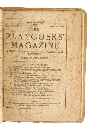 The Playgoer's Magazine. A Monthly Magazine for all Players and Playgoers. Volume 1, Number 1,...