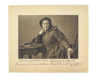 A fine photogravure portrait of Florence Eleanor Booth (1861-1957), wife of Bramwell Booth,...