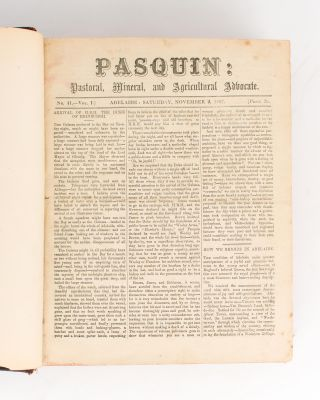 Pasquin. Pastoral, Mineral and Agricultural Advocate. A substantial run of the original edition...