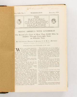The National Geographic Magazine. Volume 53, January to June, 1928 [and] Volume 54, July to December 1928 [12 separate issues]
