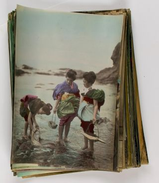 Approximately 90 late nineteenth-century hand-coloured albumen paper photographs of Japan. Japan,...