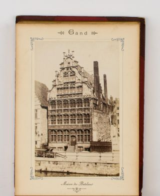 A late-nineteenth century album containing 36 photographs of cities, sites and scenes across Belgium