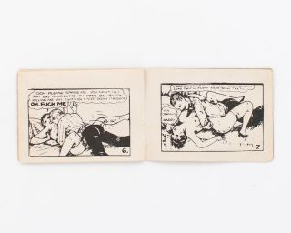 A group of eight pocket-size American pornographic comic books, in circulation from the 1920s-60s