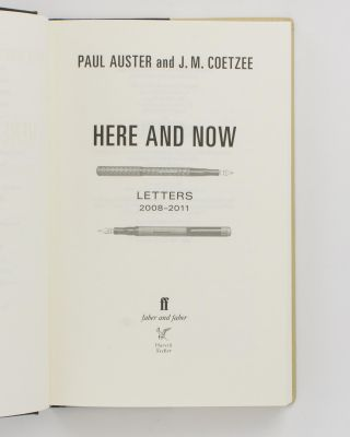 Here and Now. Letters, 2008-2011