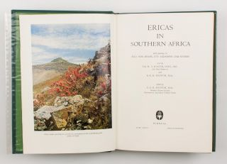 Ericas in Southern Africa. With Paintings by Irma von Below, Fay Anderson and others
