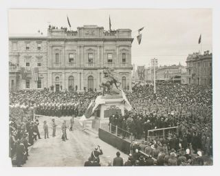 Three large vintage gelatin silver photographs of the unveiling of the South African War...