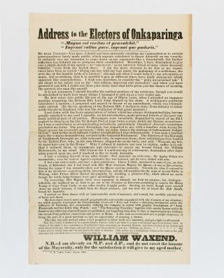 Address to the Electors of Onkaparinga. William TOWNSEND, William WAXEND