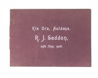 Auldana Vineyards, South Australia. Souvenir Visit of The Right Hon. R.J. Seddon, P.C., New...