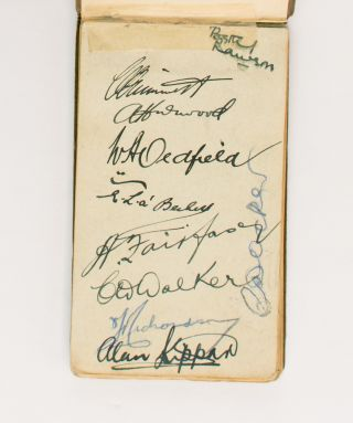 One leaf in a small autograph album (leaf size 80 × 138 mm) signed in ink (on the recto only) by...