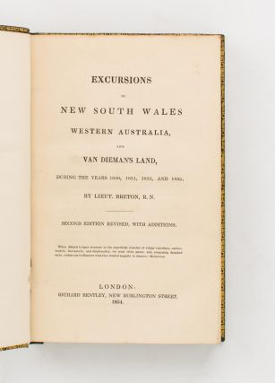 Excursions in New South Wales, Western Australia, and Van Dieman's [sic] Land, during the years 1830, 1831, 1832, and 1833