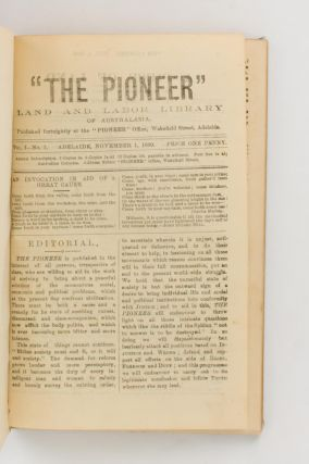 'The Pioneer'. Land and Labor Library of Australasia. Volume 1, Number 1, November 1890 to Volume 1, Number 12, April 1891