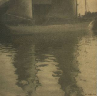 'Reflections'. A vintage gelatin silver photograph (visible image size 188 × 188 mm). John...