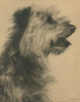 'Nish'. A vintage gelatin silver photograph (visible image size 203 × 161 mm). John KAUFFMANN.
