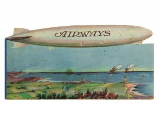 Airways [a picture book account of a journey from England to New York]. Airship R37.