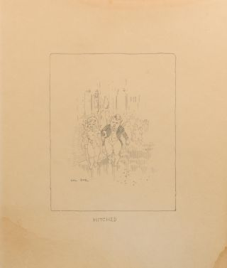 Three original pencil drawings, being 'facsimile illustrations' of his artwork in 'The Songs of a Sentimental Bloke', the 1915 book of verse by C.J. Dennis that became an instant classic