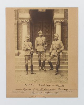 'Officers of the Sth Australian Contingent, Mounted Rifles, 1897'. An impressive portrait...