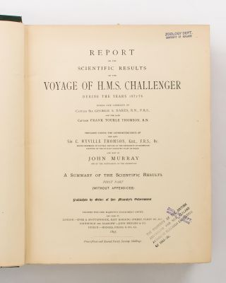 Report of the Scientific Results of the Voyage of HMS 'Challenger' during the years 1873-76 under the command of Captain George S. Nares .. and the late Captain Frank Tourle Thomson. Zoology. Volume XXII: Report on the Deep-Sea Fishes collected by HMS 'Challenger' during the years 1873-1876. By Albert Gunther