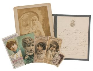 An 1887 autograph note signed by this famous French stage actress to 'Mon cher Paul', mentioning...
