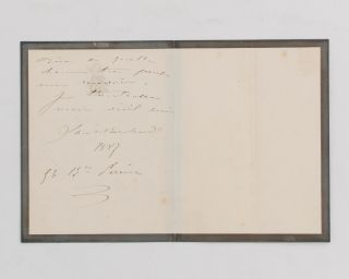 An 1887 autograph note signed by this famous French stage actress to 'Mon cher Paul', mentioning her pretty niece, and trying to arrange a suitable time to catch up