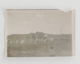 A collection of six different vintage portrait photographs of Lieutenant (later Captain) Samuel Albert White, together with 65 personal snapshots from his Boer War days