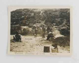 An extraordinary collection of 27 well-captioned photographs (each approximately 90 × 115 mm) taken at Gallipoli, attributed to 1043 Private Thomas English, attached to B Section, 4th Field Ambulance
