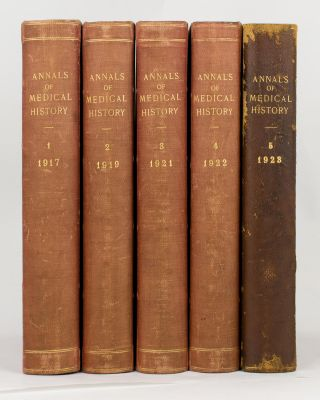 Annals of Medical History. Volume 1, 1917 to Third Series, Volume 4, 1942 (the complete set