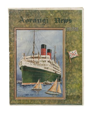 The Aorangi News. Souvenir Edition. Printed and published onboard R.M.M.S 'Aorangi' by the...