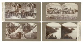 A collection of 43 stereophotographs of 'New Guinea, New Britain, Solomon, and many other islands during 1899'