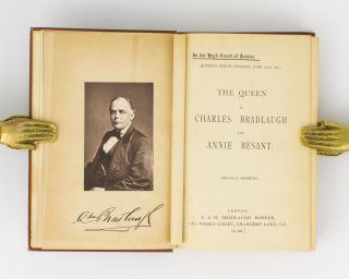 In the High Court of Justice. Queen's Bench Division, June 18th, 1877. The Queen v. Charles Bradlaugh and Annie Besant. (Specially Reported)