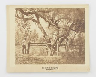 'Burke's Grave, Innamincka'. A vintage sepia-toned gelatin silver photograph (image size 208 ×...