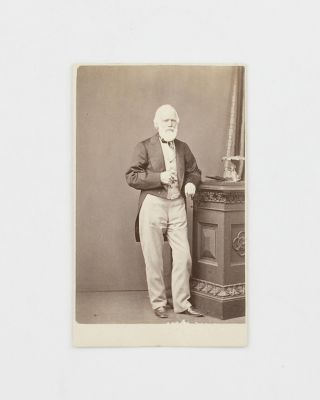 A vintage carte de visite photographic portrait of George Fife Angas (1789-1879), the influential...