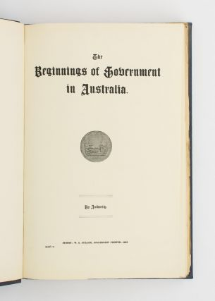 The Historical Records of Australia [33 volumes]
