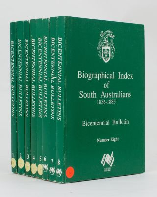 Biographical Index of South Australians, 1836-1885. Bicentennial Bulletin Number 1 [to Number 8, all published]. South Australia, Jan THOMAS.