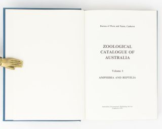 Zoological Catalogue of Australia [the first ten volumes of this important series]