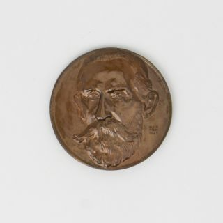 The Henry G. Smith Memorial Medal for chemistry awarded to Sir Geoffrey Badger, eminent organic chemist and later Vice-Chancellor of the University of Adelaide, in 1950. The cast bronze medal was designed by Eileen McGrath (a pupil of Raynor Hoff) and produced by Amor Pty Ltd, Sydney, around 1934